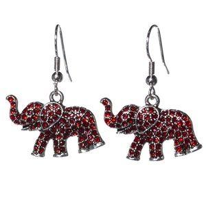 NWT  BOUTIQUE   ELEPHANT RHINESTONE EARRINGS